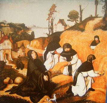 Templiers / pour athena Monaci-cistercesi-al-lavoro